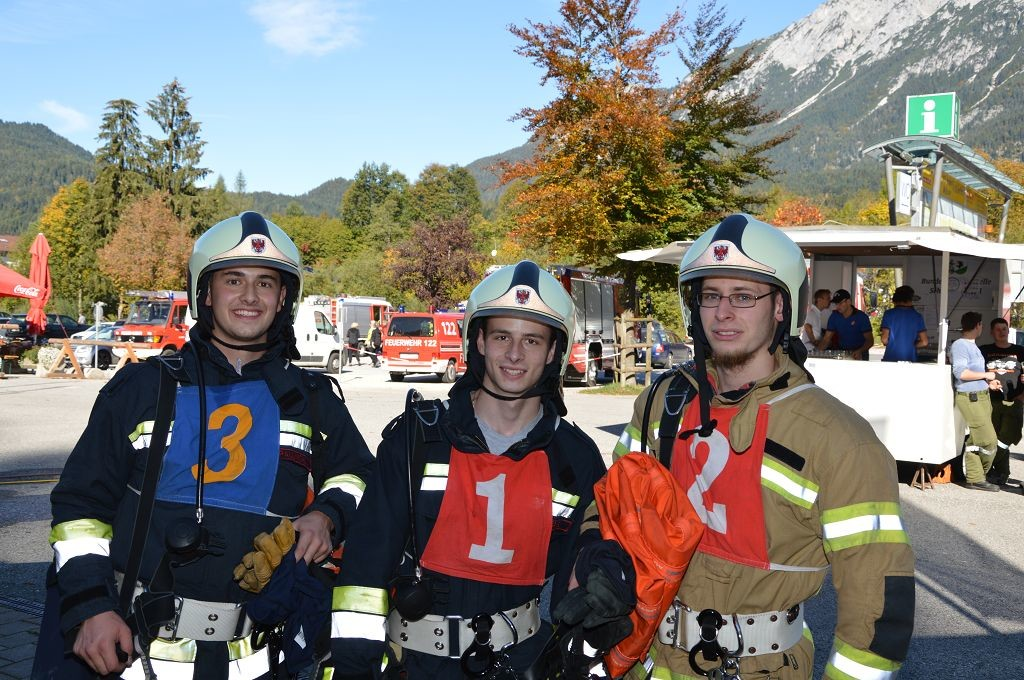 "Alexander Paulmichl, Sandro Kogler und Michael Raffler traten in der Stufe ""Bronze"" an."