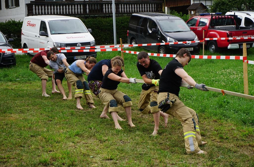 Beste Freiwillige Feuerwehr bei der Schlauchziehmeisterschaft in Niederbreitenbach 19.07.2019