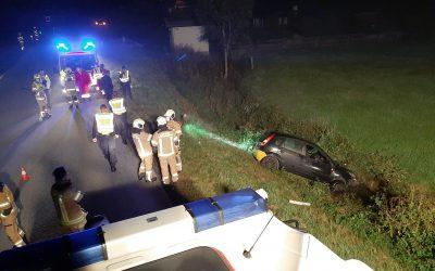 Verkehrsunfall – Fahrzeug im Wasser